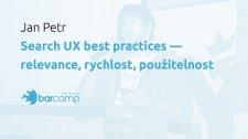 Search UX best practices – relevance, rychlost, použitelnost